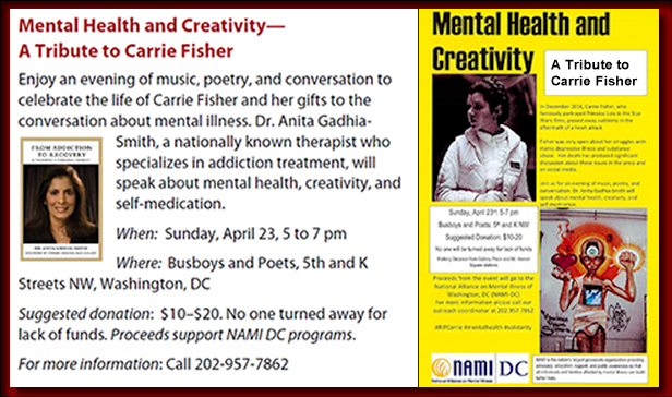 Mental Health and Creativity, A Tribute to Carrie Fisher - Dr. Anita Gadhia-Smith