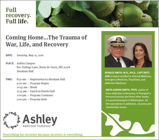 Coming Home...The Trauma of War, Life, and Recovery;  Dr. Ronald Smith; Dr. Anita Gadhia-Smith
